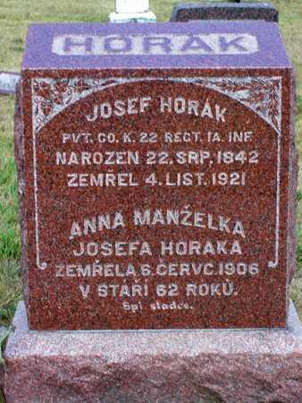 HORAK, ANNA - Johnson County, Iowa | ANNA HORAK