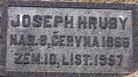 HRUBY, JOSEPH - Johnson County, Iowa | JOSEPH HRUBY