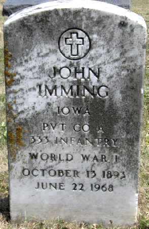 IMMING, JOHN - Johnson County, Iowa   JOHN IMMING