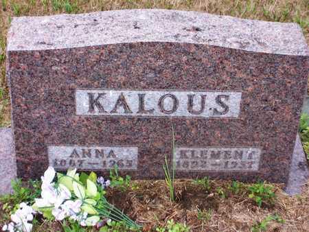 KALOUS, ANNA - Johnson County, Iowa | ANNA KALOUS
