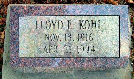 KOHL, LLOYD E - Johnson County, Iowa   LLOYD E KOHL