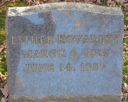KOVARSKY, ESTHER - Johnson County, Iowa | ESTHER KOVARSKY