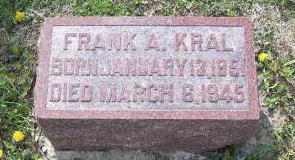 KRAL, FRANK A. - Johnson County, Iowa | FRANK A. KRAL