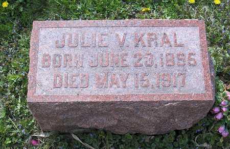 KRAL, JULIE V. - Johnson County, Iowa   JULIE V. KRAL