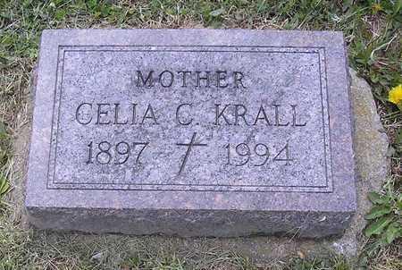 KRALL, CELIA C. - Johnson County, Iowa   CELIA C. KRALL