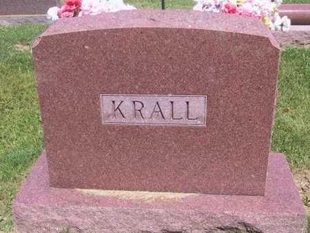 KRALL, FAMILY STONE - Johnson County, Iowa   FAMILY STONE KRALL