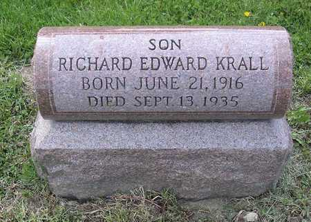 KRALL, RICHARD EDWARD - Johnson County, Iowa | RICHARD EDWARD KRALL
