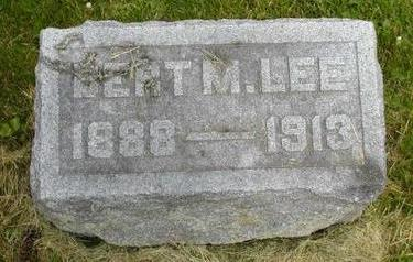 LEE, BERT M - Johnson County, Iowa | BERT M LEE