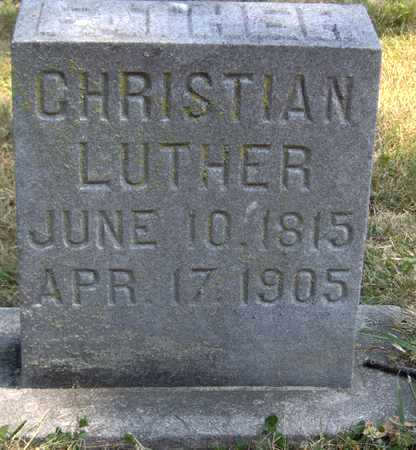LUTHER, CHRISTIAN - Johnson County, Iowa   CHRISTIAN LUTHER