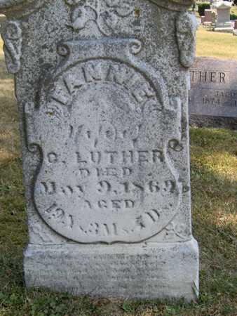 LUTHER, FANNIE - Johnson County, Iowa | FANNIE LUTHER