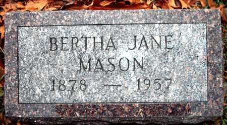 MASON, BERTHA JANE - Johnson County, Iowa   BERTHA JANE MASON