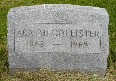 MCCOLLISTER, ADA - Johnson County, Iowa   ADA MCCOLLISTER