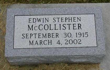MCCOLLISTER, EDWIN STEPHEN - Johnson County, Iowa | EDWIN STEPHEN MCCOLLISTER