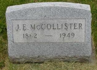 MCCOLLISTER, J. E. - Johnson County, Iowa | J. E. MCCOLLISTER
