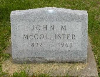 MCCOLLISTER, JOHN M - Johnson County, Iowa | JOHN M MCCOLLISTER