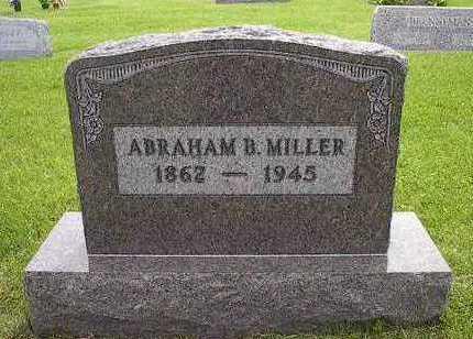 MILLER, ABRAHAM B. - Johnson County, Iowa | ABRAHAM B. MILLER