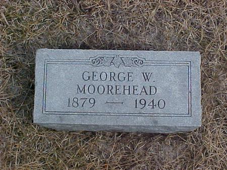 MOOREHEAD, GEORGE W. - Johnson County, Iowa   GEORGE W. MOOREHEAD