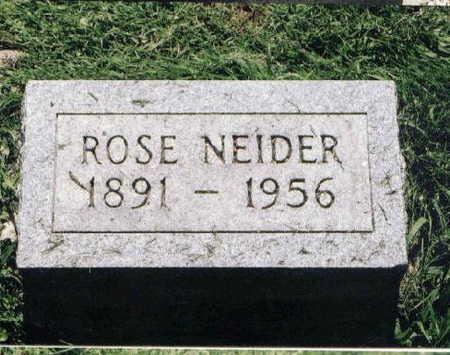 ALBERHASKY NEIDER, ROSE - Johnson County, Iowa | ROSE ALBERHASKY NEIDER
