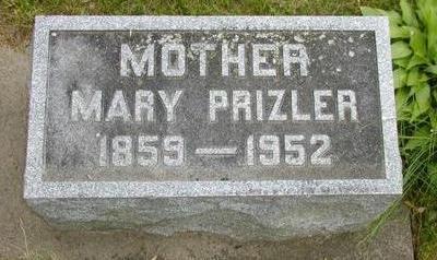 PRIZLER, MARY - Johnson County, Iowa   MARY PRIZLER