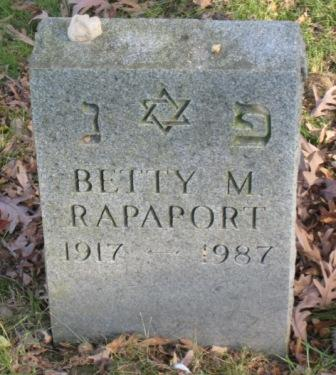 RAPAPORT, BETTY M - Johnson County, Iowa | BETTY M RAPAPORT