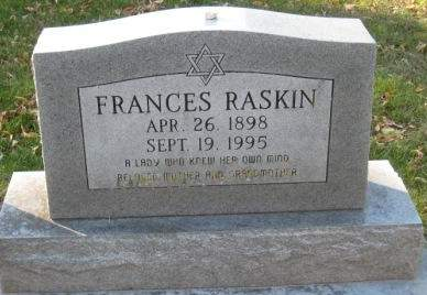 RASKIN, FRANCES - Johnson County, Iowa | FRANCES RASKIN