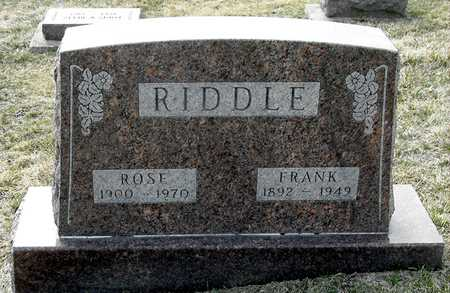 RIDDLE, FRANK - Johnson County, Iowa | FRANK RIDDLE