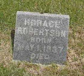ROBERTSON, HORACE - Johnson County, Iowa   HORACE ROBERTSON