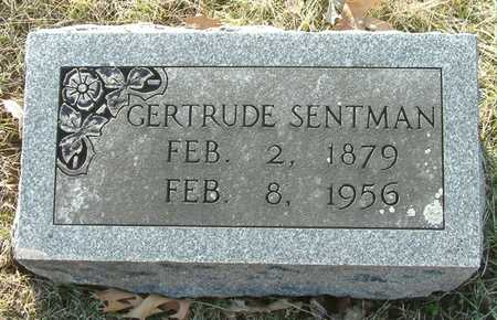SENTMAN, GERTRUDE - Johnson County, Iowa | GERTRUDE SENTMAN