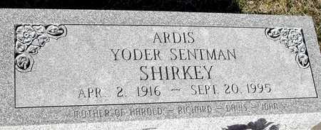 SHIRKEY, ARDIS SENTMAN - Johnson County, Iowa   ARDIS SENTMAN SHIRKEY