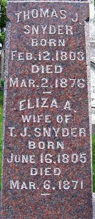 SNYDER, ELIZA A. - Johnson County, Iowa | ELIZA A. SNYDER
