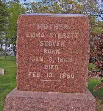 STERETT STOVER, EMMA - Johnson County, Iowa | EMMA STERETT STOVER