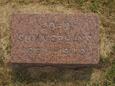 SUMMERHAYS, JOHN - Johnson County, Iowa | JOHN SUMMERHAYS