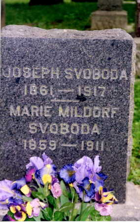MILDORF SVOBODA, MARIE - Johnson County, Iowa | MARIE MILDORF SVOBODA