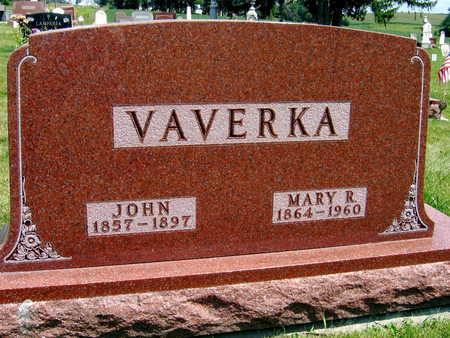 VAVERKA, MARY R. - Johnson County, Iowa | MARY R. VAVERKA