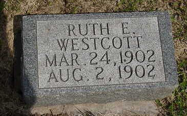 WESTCOTT, RUTH E. - Johnson County, Iowa | RUTH E. WESTCOTT