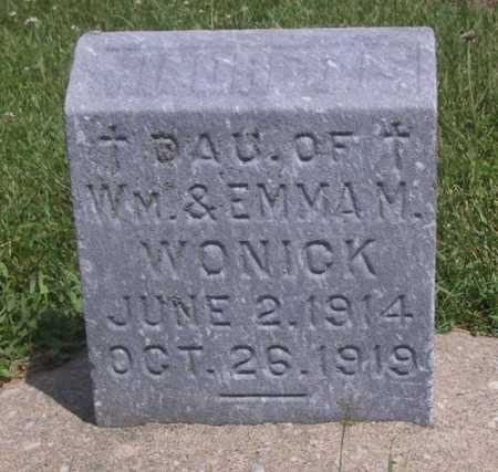 WOMICK, INFANT DAUGHTER - Johnson County, Iowa | INFANT DAUGHTER WOMICK