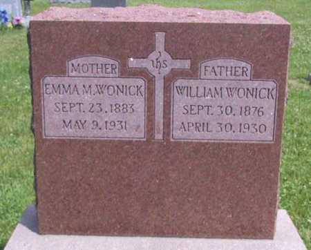 WONICK, EMMA M - Johnson County, Iowa   EMMA M WONICK