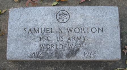 WORTON, SAMUEL S - Johnson County, Iowa | SAMUEL S WORTON
