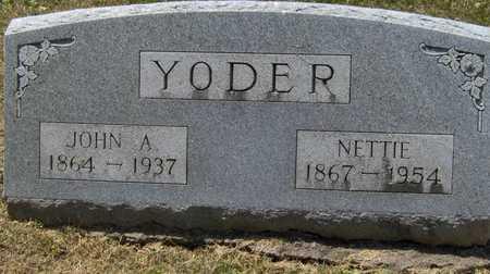 YODER, JOHN A - Johnson County, Iowa | JOHN A YODER