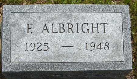 ALBRIGHT, F. - Jones County, Iowa | F. ALBRIGHT