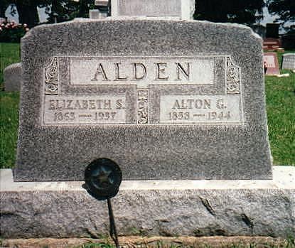 ALDEN, ALTON GHERSON - Jones County, Iowa   ALTON GHERSON ALDEN