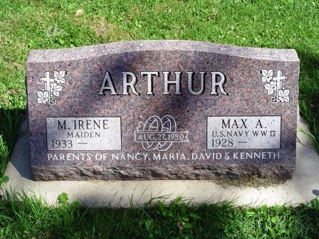 MAIDEN ARTHUR, M. IRENE - Jones County, Iowa   M. IRENE MAIDEN ARTHUR