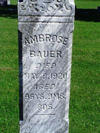 BAUER, AMBROSE - Jones County, Iowa | AMBROSE BAUER