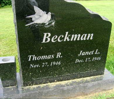 BECKMAN, THOMAS R. - Jones County, Iowa | THOMAS R. BECKMAN