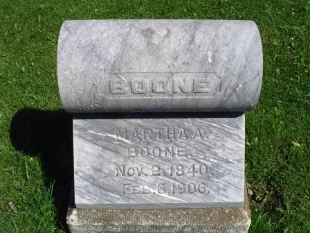 BOONE, MARTHA A - Jones County, Iowa   MARTHA A BOONE