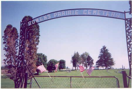 BOWENS PRAIRIE, CEMETERY - Jones County, Iowa   CEMETERY BOWENS PRAIRIE