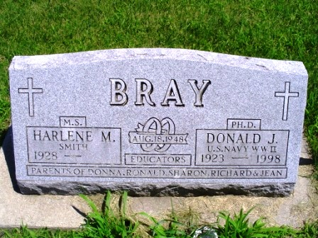BRAY, DONALD J - Jones County, Iowa | DONALD J BRAY