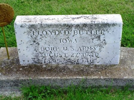 BUTLER, FLOYD D - Jones County, Iowa   FLOYD D BUTLER