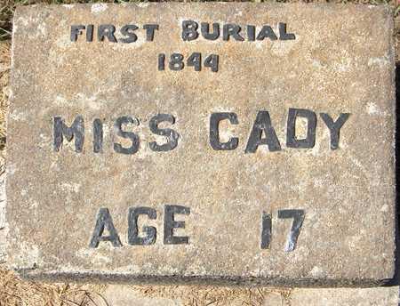 CADY, MISS - Jones County, Iowa | MISS CADY