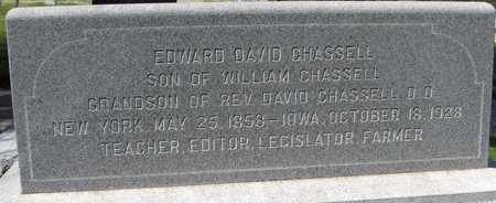CHASSELL, EDWARD DAVID - Jones County, Iowa | EDWARD DAVID CHASSELL